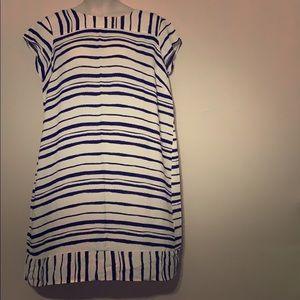 Eloquii White and Black Shift Dress 18/20